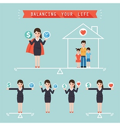Balancing your life business concept vector