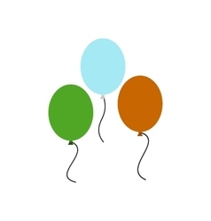 Balloons in irish colors icon vector image