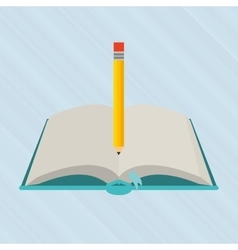 book and pencil design vector image vector image