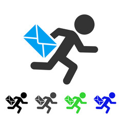 Child mail courier flat icon vector
