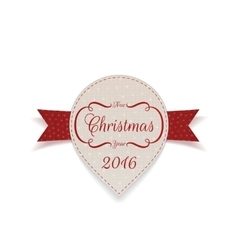 Christmas and New Year Banner with Ribbon vector image vector image