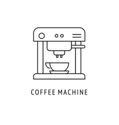 coffee machine outline icon vector image