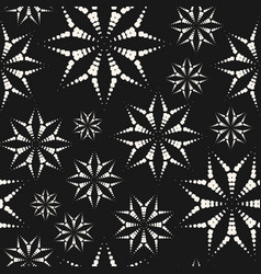 dotted floral seamless pattern abstract geometric vector image
