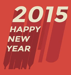Happy new year 2015 greeting card vector image vector image