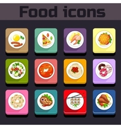 Icons meal plan view vector