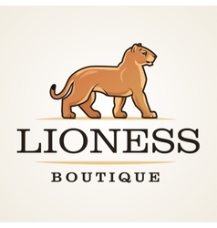 Lioness logo lion design template shop or vector