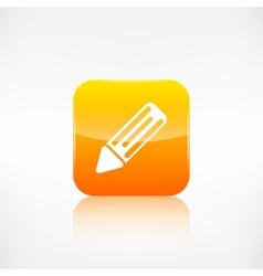 Pencil web icon application button vector