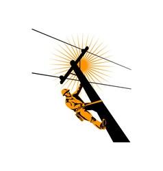 Power lineman electrician vector