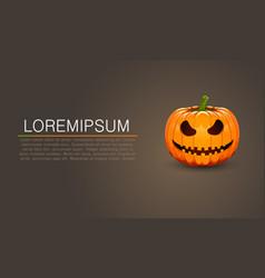 Pumpkin for halloween dark banner vector