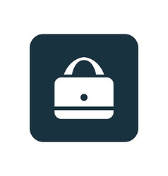 purse icon Rounded squares button vector image