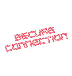 secure connection rubber stamp vector image vector image