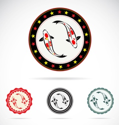 Set of carp koi vector