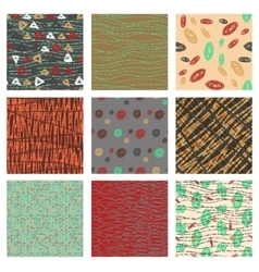 Set of hand drawn patternswith dotted lines vector