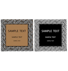 Signs with text vector image vector image