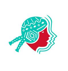South american girl icon vector