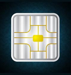 Technology digital cyber security card chip binary vector