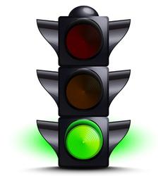 traffic light on green vector image