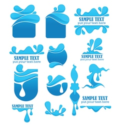 Water symbols and emblems vector