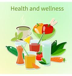 Wellness vector image