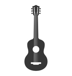 guitar string instrument music icon vector image