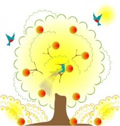 paradise garden vector image
