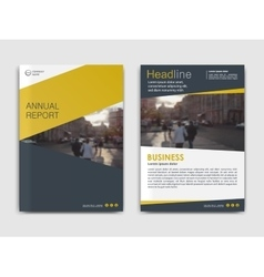 Cover design annual report template vector