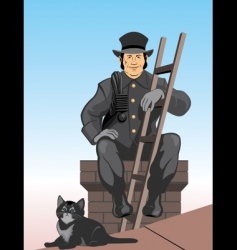 chimney sweep vector image