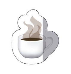 color coffee cup with steam vector image