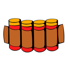 cartridges hunting ammunition icon icon cartoon vector image