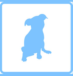 Puppy icon vector