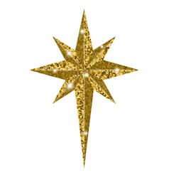 Bethlehem christmas golden star isolated on white vector