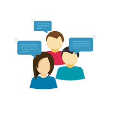discussion group  flat cartoon vector image