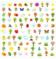 Set Of Natural Elements vector image