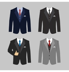 Business clothing suit vector