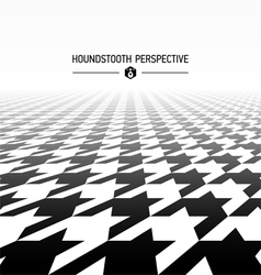 Houndstooth pattern perspective vector