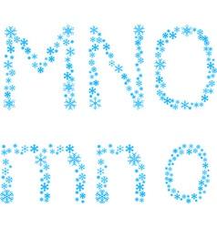 MNO letters vector image
