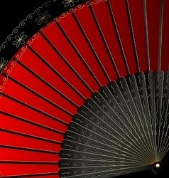 Image of red fan vector