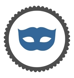Privacy mask flat cobalt and gray colors round vector