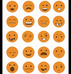 Icons set 20 emotional smiles vector