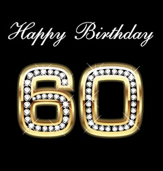60th happy birthday vector