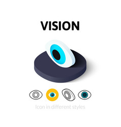 Vision icon in different style vector