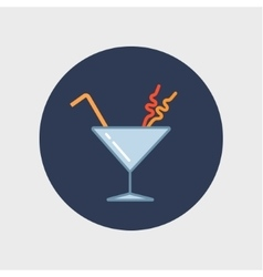 Cocktail in martini glass vector