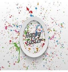 Realistic easter paper egg banner with type vector