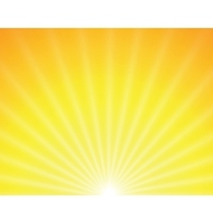Sun on yellow background vector