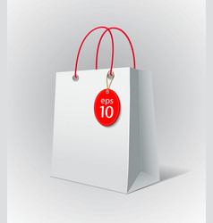 White paper bag vector