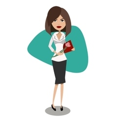 Cartoon female secretary office worker vector image