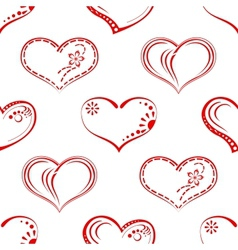 Valentine heart seamless vector