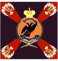 Colored flag of the moscow grenadier regiment vector
