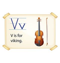 A letter V for viking vector image vector image