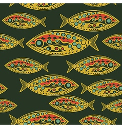 Abstract fish pattern made as seamless vector